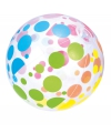 Strandbal met gekleurde stippen 51 cm