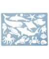 Teken sjabloon oceaan dieren