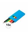 Uitdeel speelgoed kleurpotloden 15 stuks