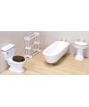 Victoriaans poppenhuis badkamer meubels