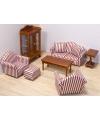Victoriaans poppenhuis woonkamer meubels