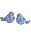 Vogel spaarpot blauw