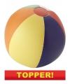 Voordelige strandbal opblaasbaar multicolor