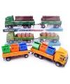 Vrachtwagen geladen afvalcontainers