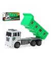 Vrachtwagen met container groen 38 x 18 cm