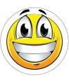 Vrolijke smiley sticker type 1