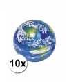 Wereldbol stuiterballen 10 stuks