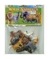 Wilde dieren van plastic 12 stuks