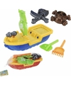 Zand speelgoed piratenschip rood 40 cm