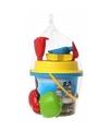 Zand speelgoed set blauwe piraten emmer