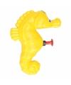 Zeepaard waterpistool geel 9 cm