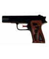 Zwart waterpistool 15 cm