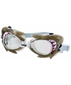 Zwembril met haai oogjes voor kinderen groen