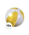 10x opblaasbare strandbal geel