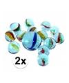 2 netjes glazen gekleurde knikkers 42 stuks