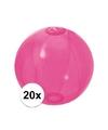 20x opblaasbare strandbal fel roze 30 cm