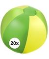20x opblaasbare strandbal groen