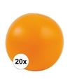 20x opblaasbare strandbal oranje 30 cm