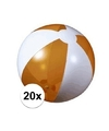20x opblaasbare strandbal oranje