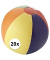 20x strandbal opblaasbaar multicolor
