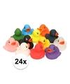 24x bad eendjes gekleurd