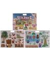 2x autoraam stickers boek vakantie verkeer strand thema