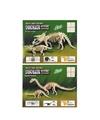 2x houten bouwpakket van een triceratops en apatosaurus