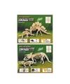 2x houten bouwpakket van een triceratops en stegosaurus