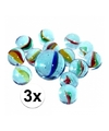 3 netjes glazen gekleurde knikkers