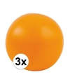 3x opblaasbare strandbal oranje 30 cm