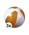 3x opblaasbare strandbal oranje