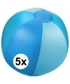 5x opblaasbare strandbal blauw