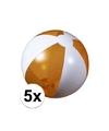 5x opblaasbare strandbal oranje
