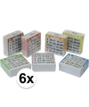 6x bingo kaarten 1 75 gekleurd