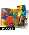 A4 schetsboek inclusief kleurpotloden
