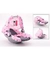 Baby poppen autostoeltje maxicosi roze