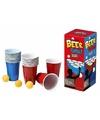 Beer pong set met red en blue cups