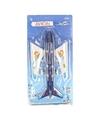 Blauw speelgoed vliegtuig 38 cm