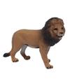 Bruine plastic leeuw 9 cm