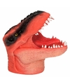 Dino world latex handpop oranje 14 cm