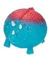 Dino world splash figuurtje blauw rood 5 cm