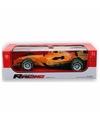 Formule 1 race auto met licht en geluid geel 32 cm