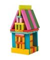Gekleurde bouwblokken voor kinderen 75 stuks