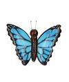 Houten magneet blauwe vlinder