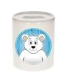 Ijsberen spaarpot voor kinderen 9 cm