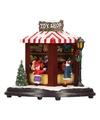 Kerstdorp maken speelgoed marktkraampje met led licht 15 cm