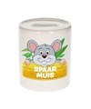 Kinder spaarpot met muis print 9 cm