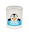 Kinder spaarpot met pinguins print 9 cm