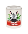 Kinder spaarpot met zebra print 9 cm