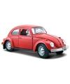 Modelauto volkswagen kever rood 1 24